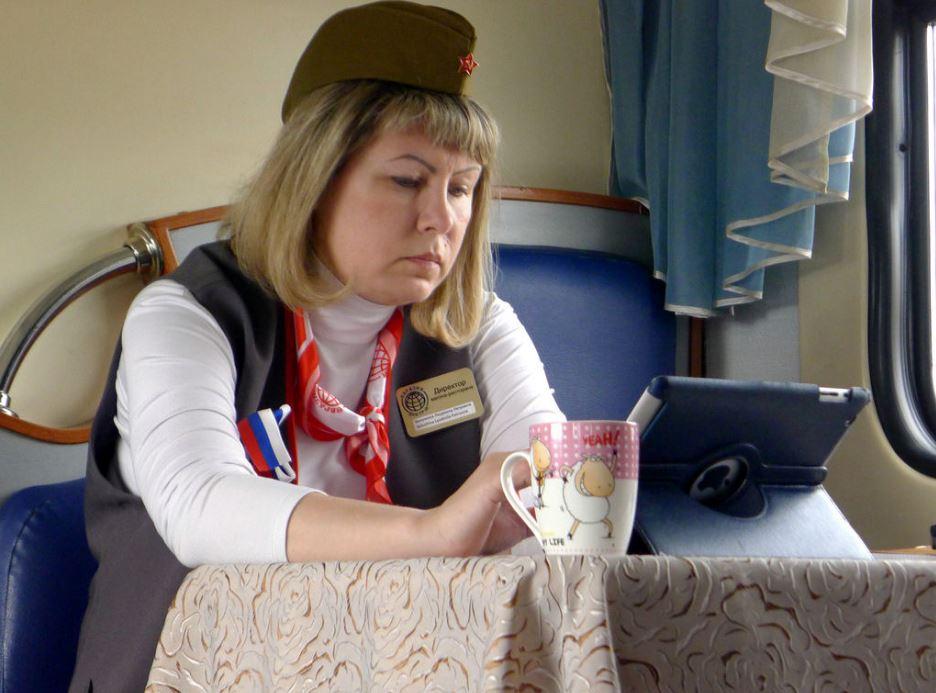 Hotesse du train Transsiberien
