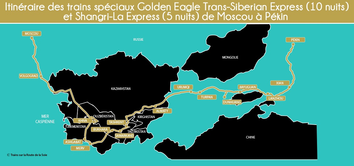 Carte Golden Eagle de Moscou à Pekin