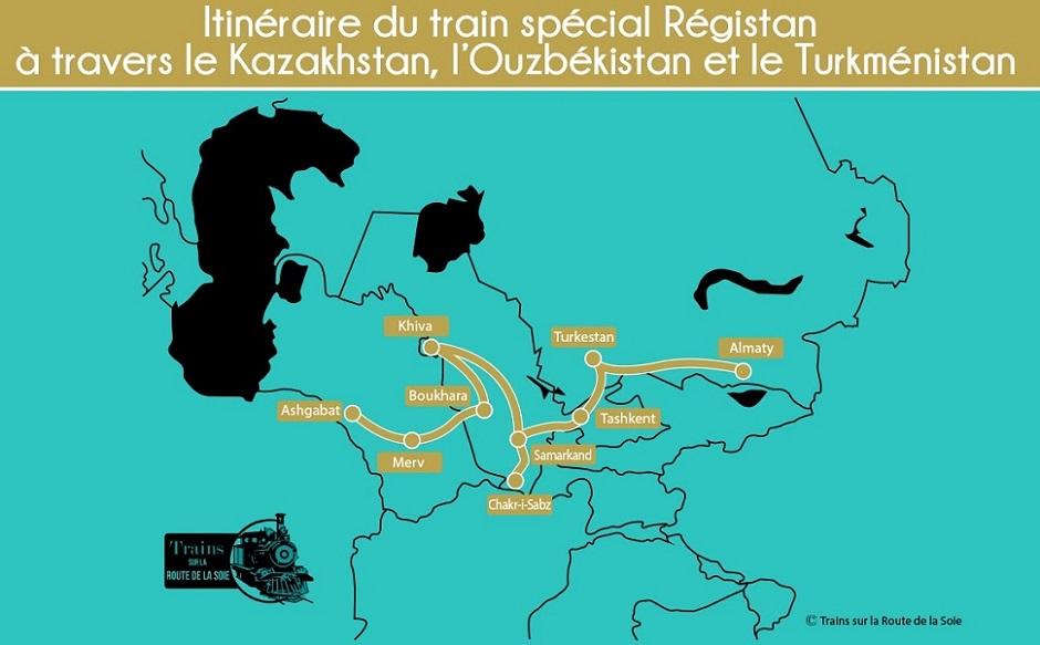 Train Registan : Itinéraire du voyage